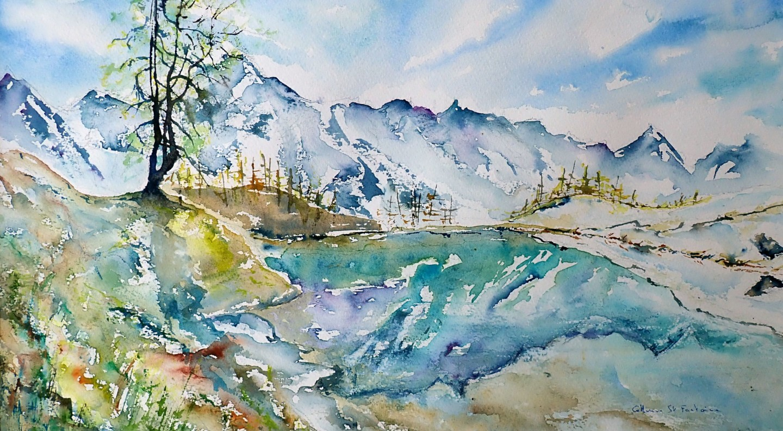 catherinesaintfontaine - le lac bleu (Arolla)