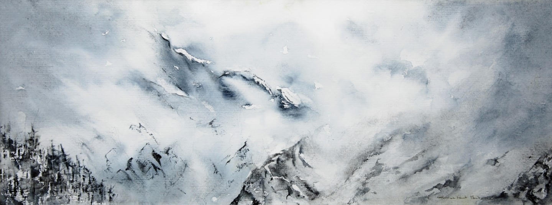 Catherinesaintfontaine - Brumes et lumières. Mont Collon Arolla