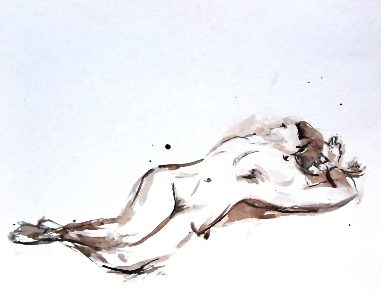 Catherinesaintfontaine - jeune femme allongée