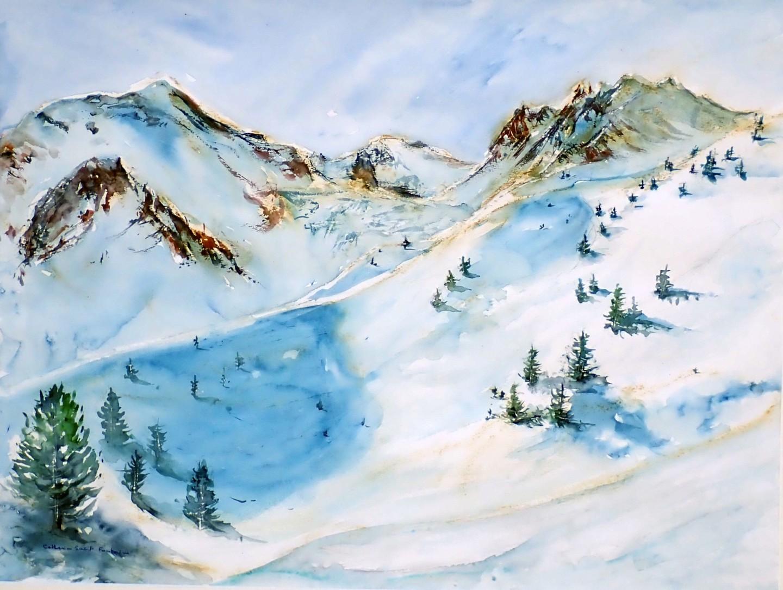 catherinesaintfontaine - Arolla la remointse, piste de ski