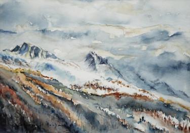 couleurs automnales dans la neige