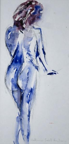 femme en bleus